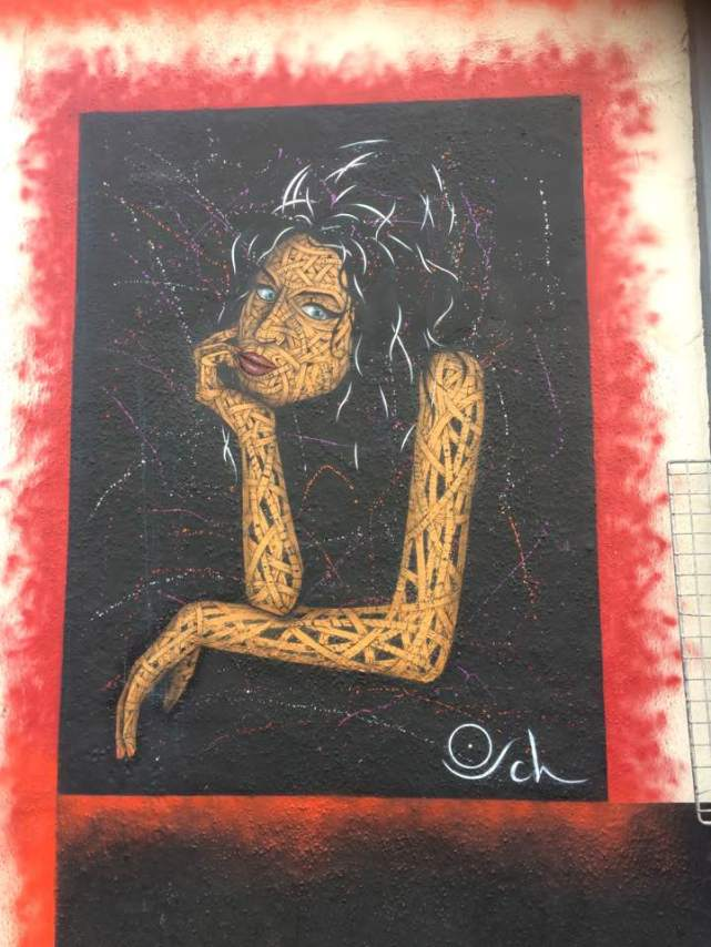 Amy Winehouse portrait by Otto Schade. Street Art Camden, London. Staycation Inspiration