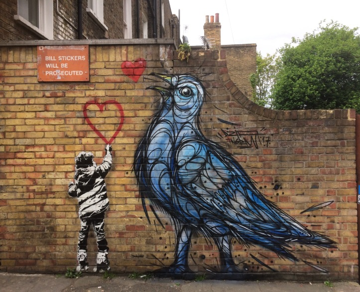 Castlehaven Road Street Art, Camden, London. Staycation Inspiration