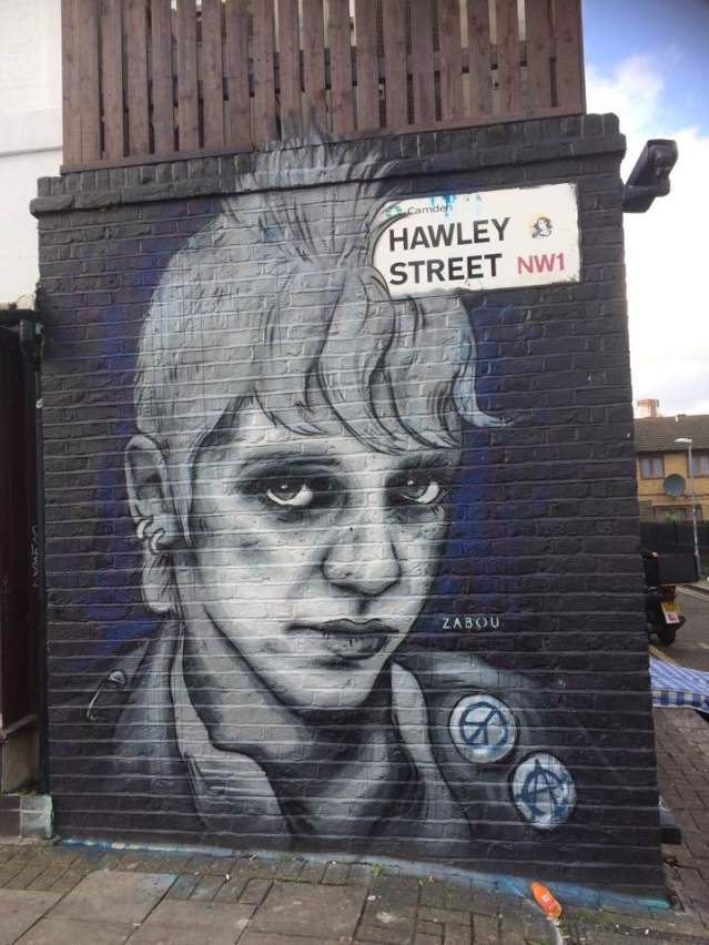 Little Punk By Zabou. Hawley St. Street Art. Camden, London. Staycation Inspiration