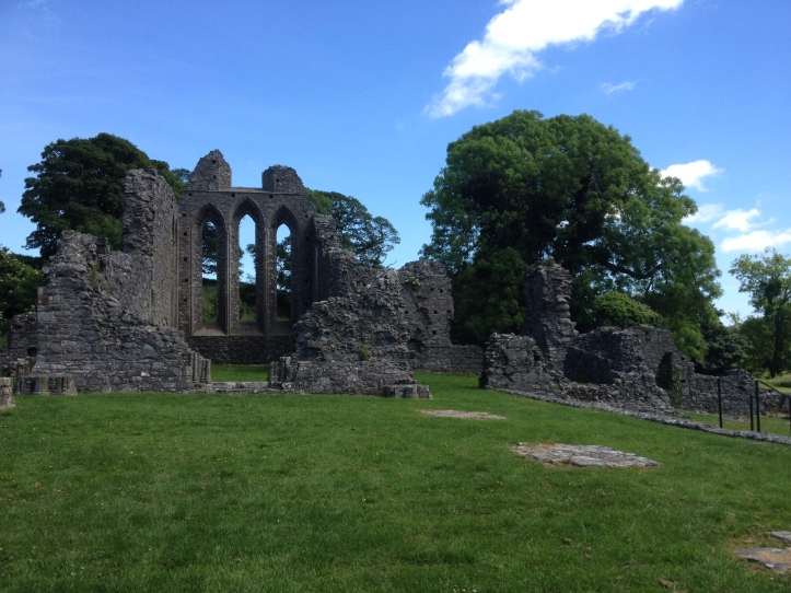 Inch Abbey, where Rob Stark was proclaimed King in the north in Game of Thrones. A must see site for fans on a road trip visiting the filming locations in Northern Ireland.