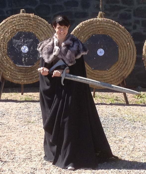 Siobhan Starrs at Winterfell. I embraced my inner Stark and dress up in (fake) furs and cloak on a tour of Game of Thrones filming locations in Northern Ireland. Northern Ireland is a great place for staycation.