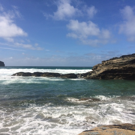 Trebarwith Strand, Cornwall, a great place for a seaside staycation.