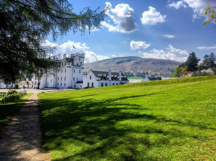Blair Castle. The Cairngorm region is a great place for a staycation. Lots of family fun to do including walking, biking and horse riding.