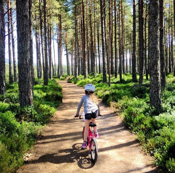 Cycling the Old Logging Way. The Cairngorm region is a great place for a staycation. Lots of family fun to do including walking, biking and horse riding.